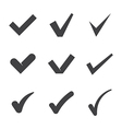 Check mark icons vector image vector image
