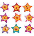 Cheerful small asterisks cartoon vector image