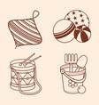 Child toy pattern design element vector image