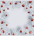 christmas background with white spruce branches vector image vector image