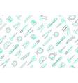clip art office elements arrange on seamless vector image