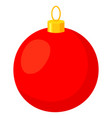 colorful cartoon red christmas ball vector image