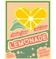 Colorful vintage Lemonade label poster vector image vector image