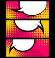 comic book balloon horizontal blank banner vector image vector image