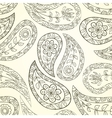 Contour seamless floral pattern vector image vector image