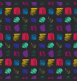 contrast color grunge scratched squares pattern vector image