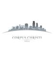 Corpus Christi Texas city skyline silhouette7 vector image vector image