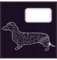 Dachshund background vector image