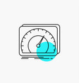 dashboard device speed test internet line icon vector image