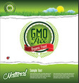 ecology organic nature gmo free green banner vector image vector image