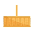 Empty wicker basket icon vector image