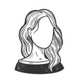 female face template sketch vector image