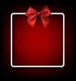 festive background with red bow vector image vector image