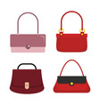 flat handbags set vector image