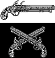Flintlock Antique Pistol vector image vector image
