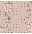 Gentle dotted lace vector image