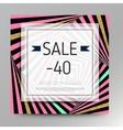 Gold sale background for flyer vector image