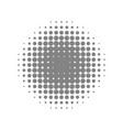 grey beautiful halftone vector image