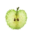 half green apple of blots isolated vector image vector image