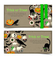 halloween elements banners vector image vector image