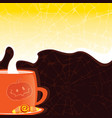 halloween styled cup with a hot drink vector image vector image