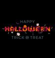 happy halloween trick or treat pumpkin party vector image vector image
