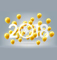 happy new year 2018 celebration golden balloon vector image vector image