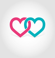 Hearts linked vector image
