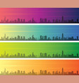 hong kong multiple color gradient skyline banner vector image