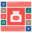 ink bottle icon elements for your design vector image