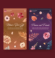 instagram template with autumn flower concept vector image vector image