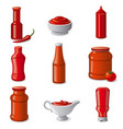 ketchups and sauces vector image vector image
