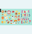 love spring breakfast lettering composition vector image vector image