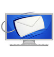mail on computer screen vector image
