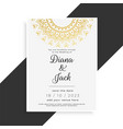 mandala style vintage wedding template vector image vector image