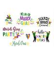 mardi gras design element for carnival vector image vector image
