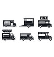 market food truck icon set simple style vector image vector image