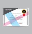 modern certificate template vector image vector image