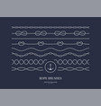 nautical rope frames and bordes vector image