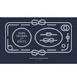 nautical rope knots and frames vector image