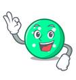 okay circle character cartoon style vector image