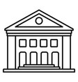 old courthouse icon outline style vector image vector image
