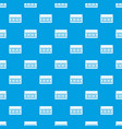 one building brick pattern seamless blue vector image vector image