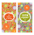 organic products vertical flyers set vector image vector image
