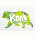 painted animals bear vector image vector image