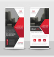red black business roll up banner flat design vector image vector image