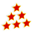 red stars in triangle composition vector image