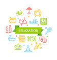 relaxation rest time color round design template vector image vector image