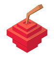retro apples icon isometric 3d style vector image vector image