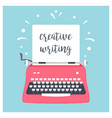 retro styled typewriter with sheet of paper and vector image vector image